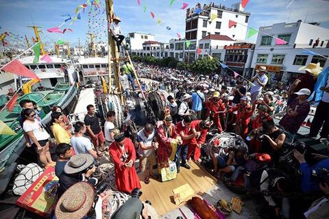 Lễ hội cầu may, chúc ngư dân thuận buồm xuôi gió ở Trung Quốc
