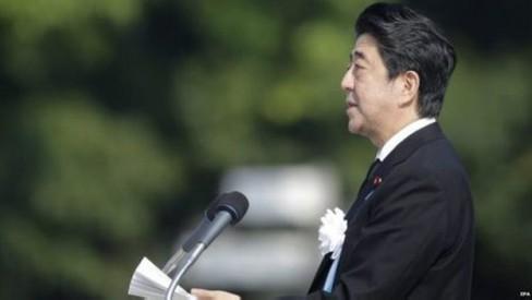 Thủ tướng Shinzo Abe nói Nhật Bản có trách nhiệm thúc đẩy việc loại bỏ vũ khí hạt nhân