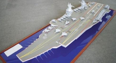 Mô hình tàu sân bay do trung tâm Krylov thiết kế.