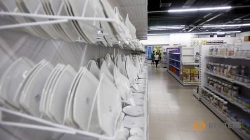 Một góc trung tâm thương mại V+ ở Hà Nội - Ảnh: Reuters