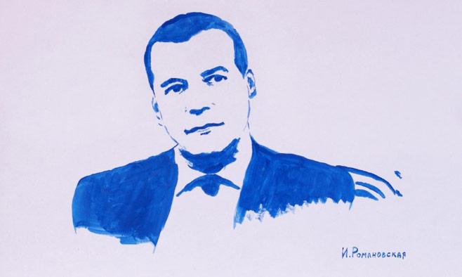 Còn đây là chân dung của Thủ tướng Nga Medvedev. (Ảnh: Blog nhân vật)