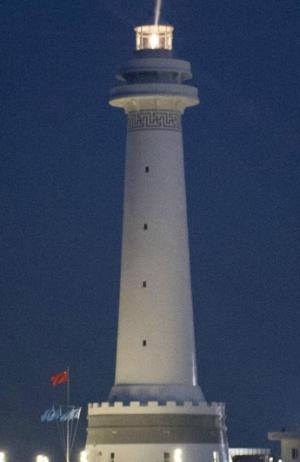 Một trong hai ngọn hải đăng tại Trường Sa mà Trung Quốc mới khánh thành