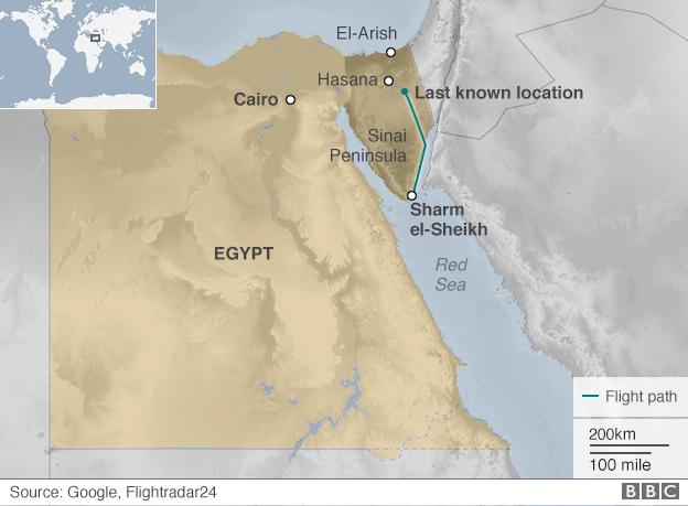 Bản đồ khu vực tai nạn. (Ảnh: BBC)