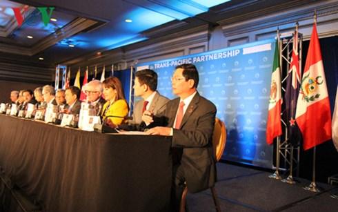 Đoàn đàm phán TPP tại Atlanta ngày 5/10 vừa qua. Ảnh: VOV