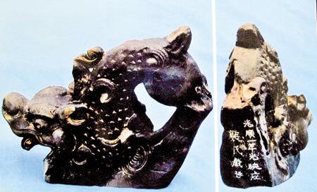 Tượng con nghê trong mộ bà Bùi Thị Hý.