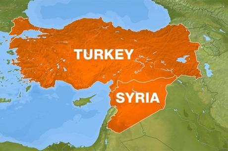 Khu vực biên giới giáp ranh giữa Thổ Nhĩ Kỳ và Syria.