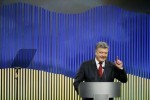 Ukrainian President Poroshenko attends news conference in Kiev