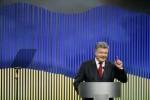 Ukrainian President Poroshenko attends news conference in Kiev