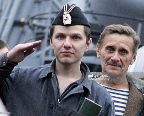 Chỉ huy Piz Slava Milashevsky và kỹ sư Ganady Bolonin