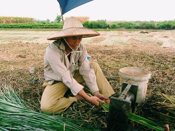Anh Hùng trải nghiệm cuộc sống lao động cùng người nông dân Việt Nam. Ảnh: NVCC.