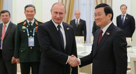 Chủ tịch nước Việt Nam Trương Tấn Sang và Tổng thống Nga Putin