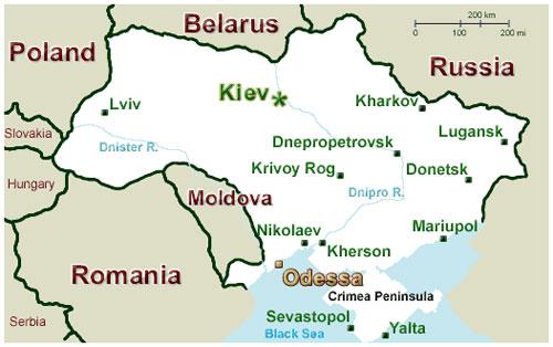 Vị trí Odessa. Ảnh: Taringa