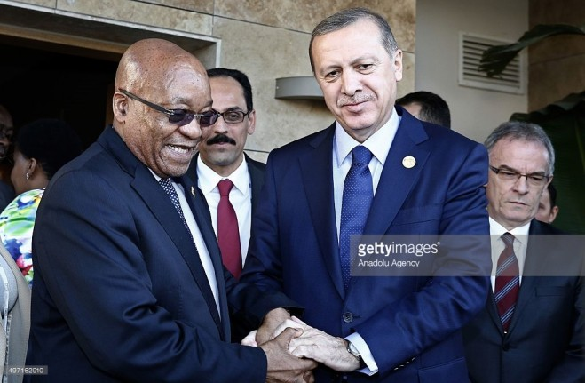 Tổng thống Thổ Nhĩ Kỳ Recep Tayyip Erdogan và Tổng thống Senegal Macky Sall