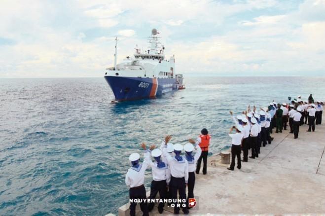 Tàu Cảnh sát biển 8001 Việt Nam Đóng thành công tàu Cảnh sát biển 8001 là một minh chứng Việt Nam tự đứng trên đôi chân của mình