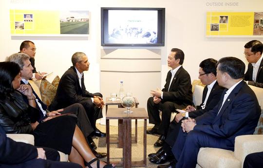 Cuộc hội kiến giữa hai nhà lãnh đạo kéo dài gần 40 phút được Tổng thống Obama đánh giá là rất thành công