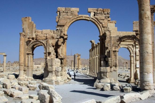 Những di tích La Mã của Palmyra Ảnh: Getty Images