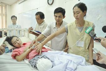 Bệnh nhân Vi tại Bệnh viện Chợ Rẫy hôm 15.3 - Ảnh: Thang Duy