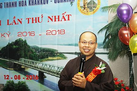 Đến chia vui với Đại hội có Đại đức Thích Quang Điền - đương nhiệm chùa Trúc Lâm Kharkov