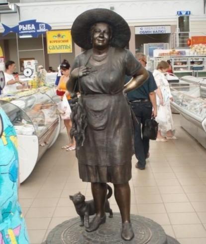 Chợ Privoz Odessa, nơi rất phong phú thực phảm rau quả giá rẻ.