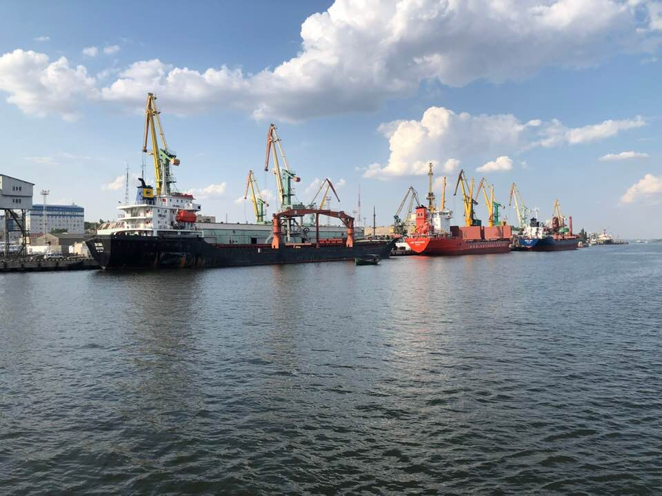 Một góc cảng Kherson